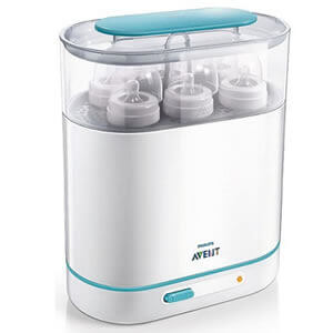 baby hire STERILISER Avent 3 in 1