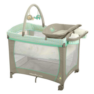 baby hire Portacot Bright Starts Whimsical